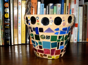 Danielle's First Mosaic Flower Pot